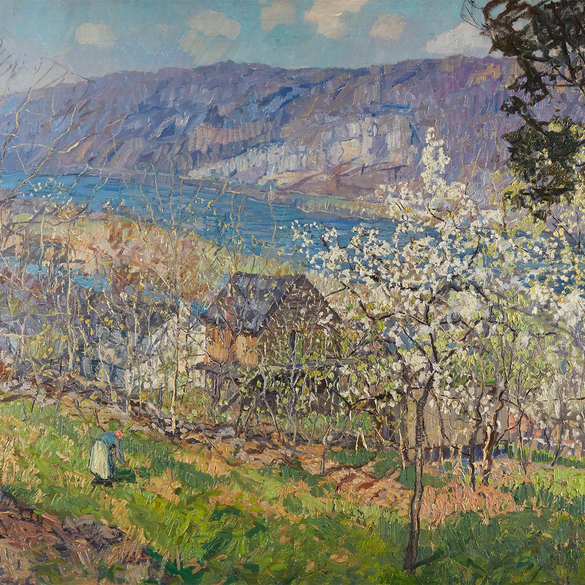 Edward Willis Redfield, Spring at Point Pleasant on the Delaware River