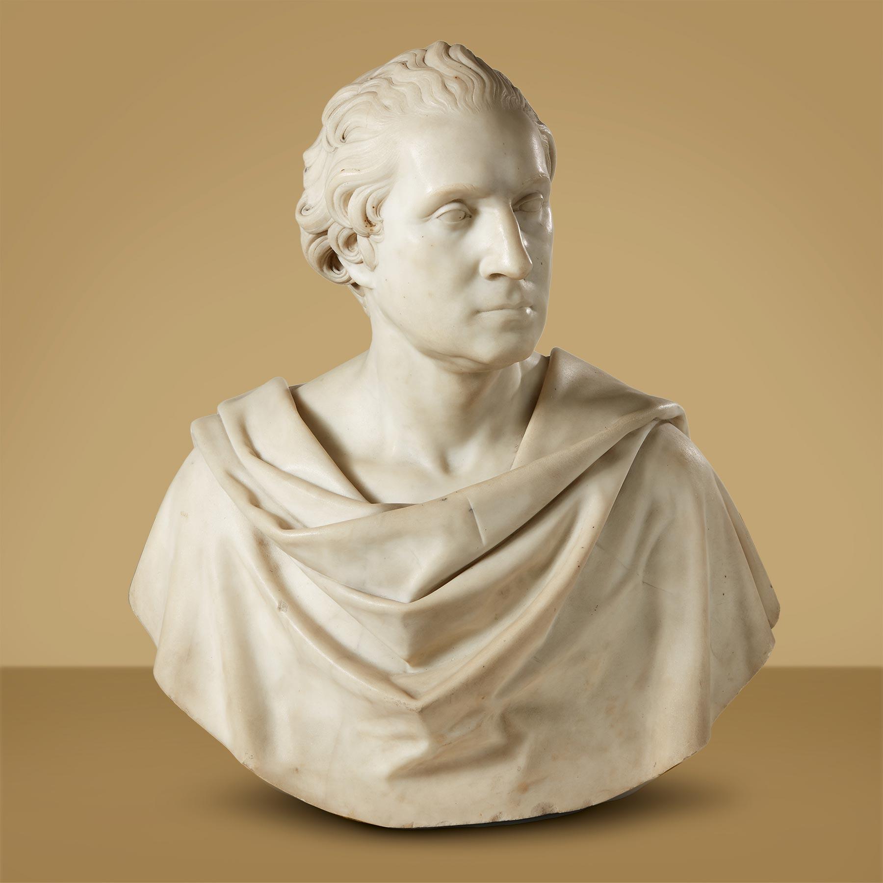 A bust of George Washington