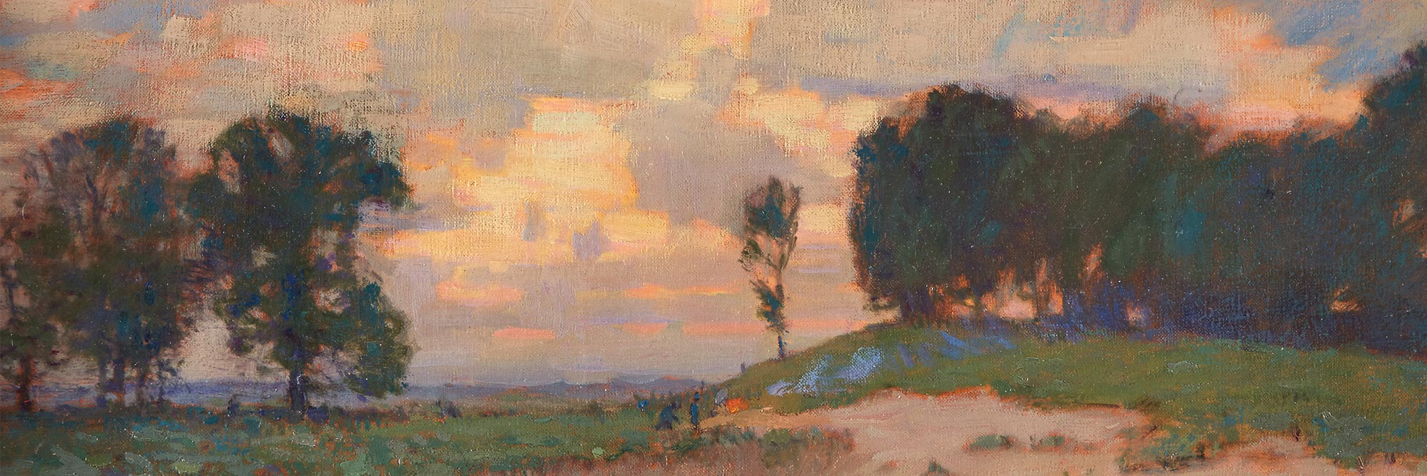 painting of landscape with trees