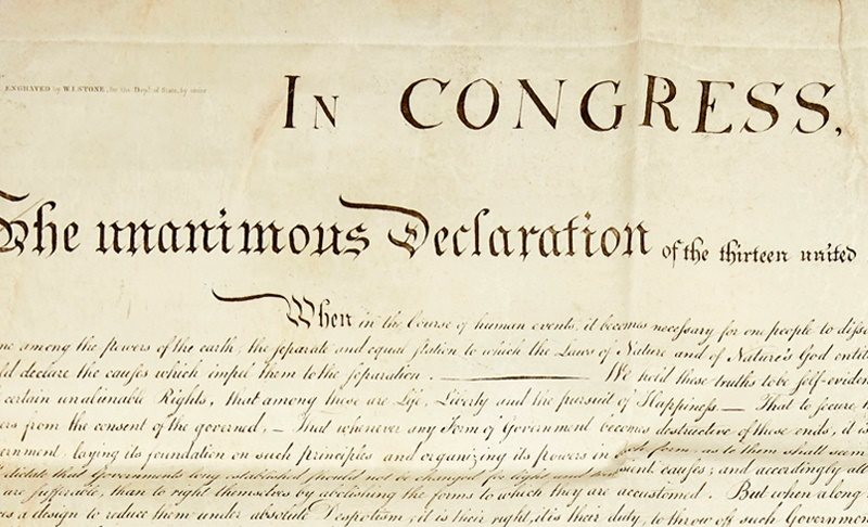 This Important State Paper: Signer Charles Carroll's Copy of the Declaration of Independence