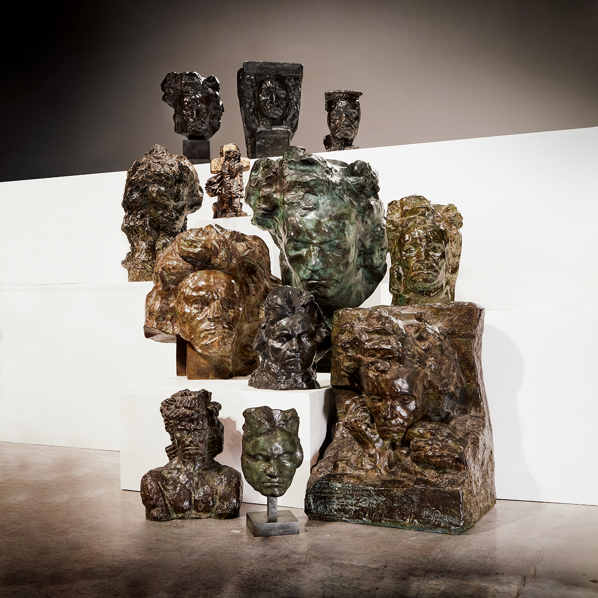 Variations on a Theme: 12 Bronzes of Ludwig van Beethoven by Antoine Bourdelle