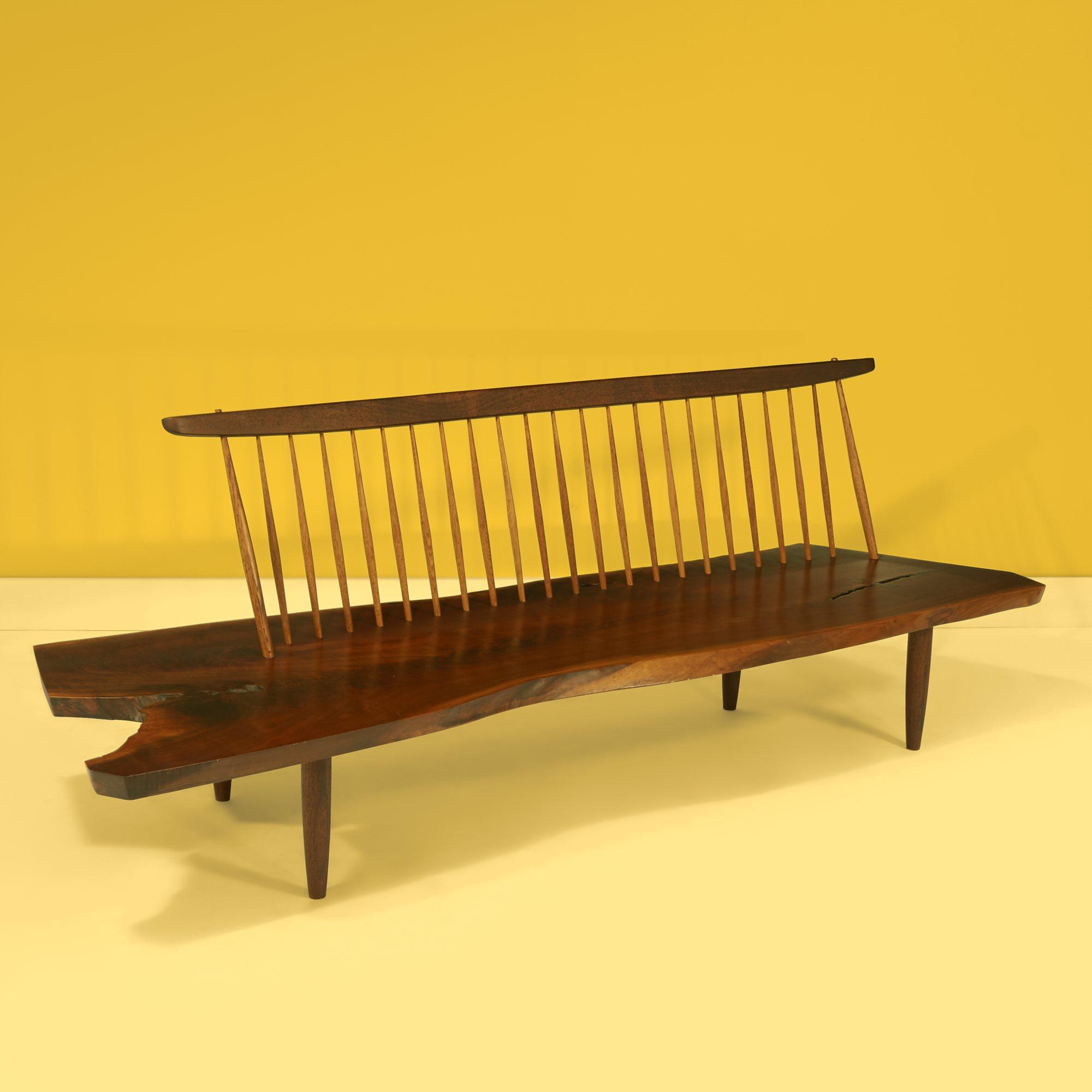 Lot 28  |  Fine Conoid Bench, New Hope, Pennsylvania, 1974, $30,000-50,000