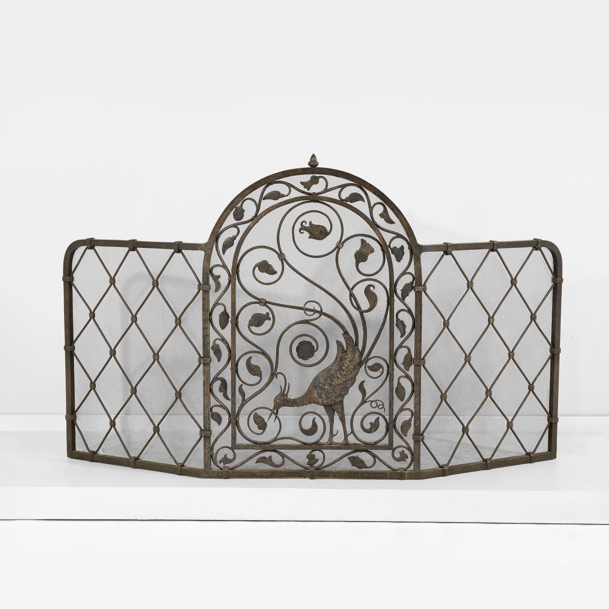 Lot 40  |  Samuel Yellin (American, b. Russia, 1884-1940), Fine Fire Screen for the Abraham T. Malmed Residence, $15,000-25,000