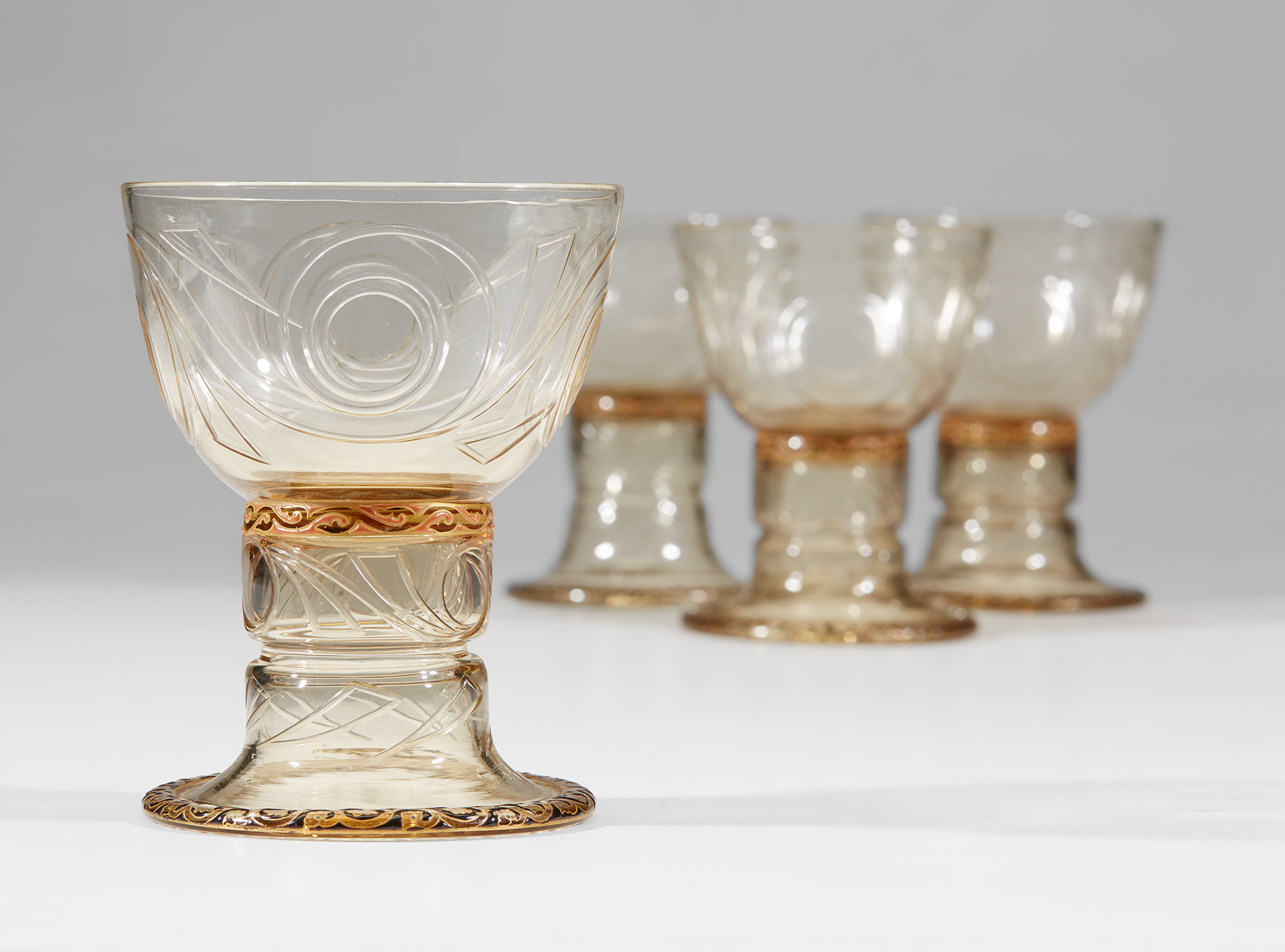Lot 6 | émile Gallé, A Set of Twelve Drinking Glasses, France, circa 1895