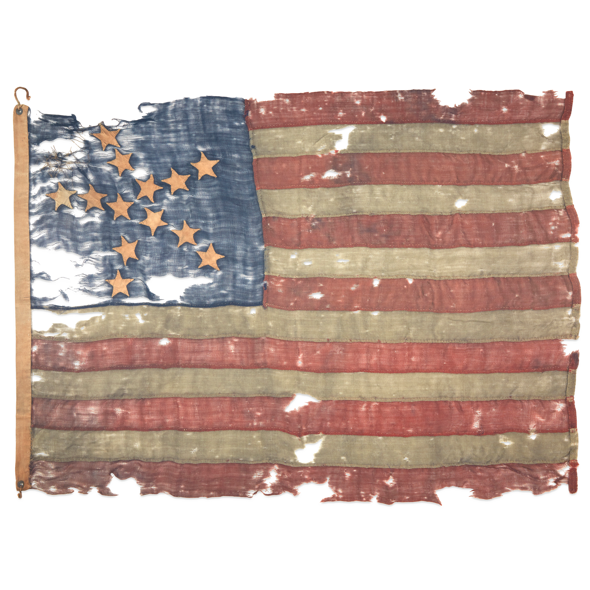 Lot 3 | A 13-Star 'Great Star' pattern American Flag, late 18th/early 19th century, $15,000-25,000