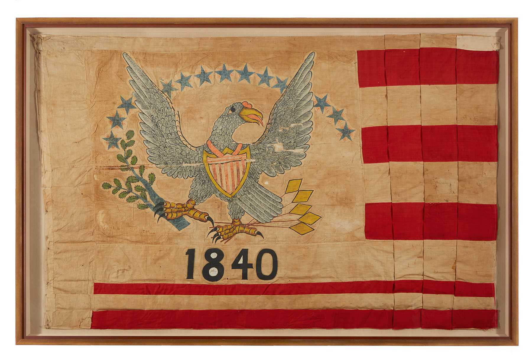 A 13-star American Flag from Fort Sutter, Sacramento, California, dated