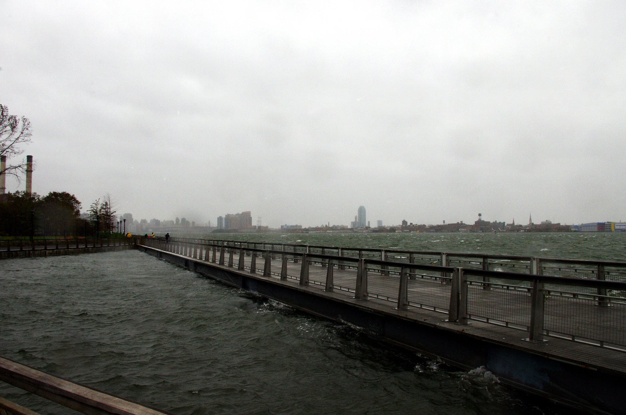 View of the East River During Hurricane Sandy