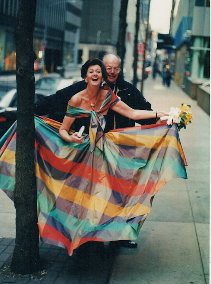 Phillip Bruno and his wife, art critic and writer Clare Henry, on their wedding day in New York in 2002. Personal archive photograph.