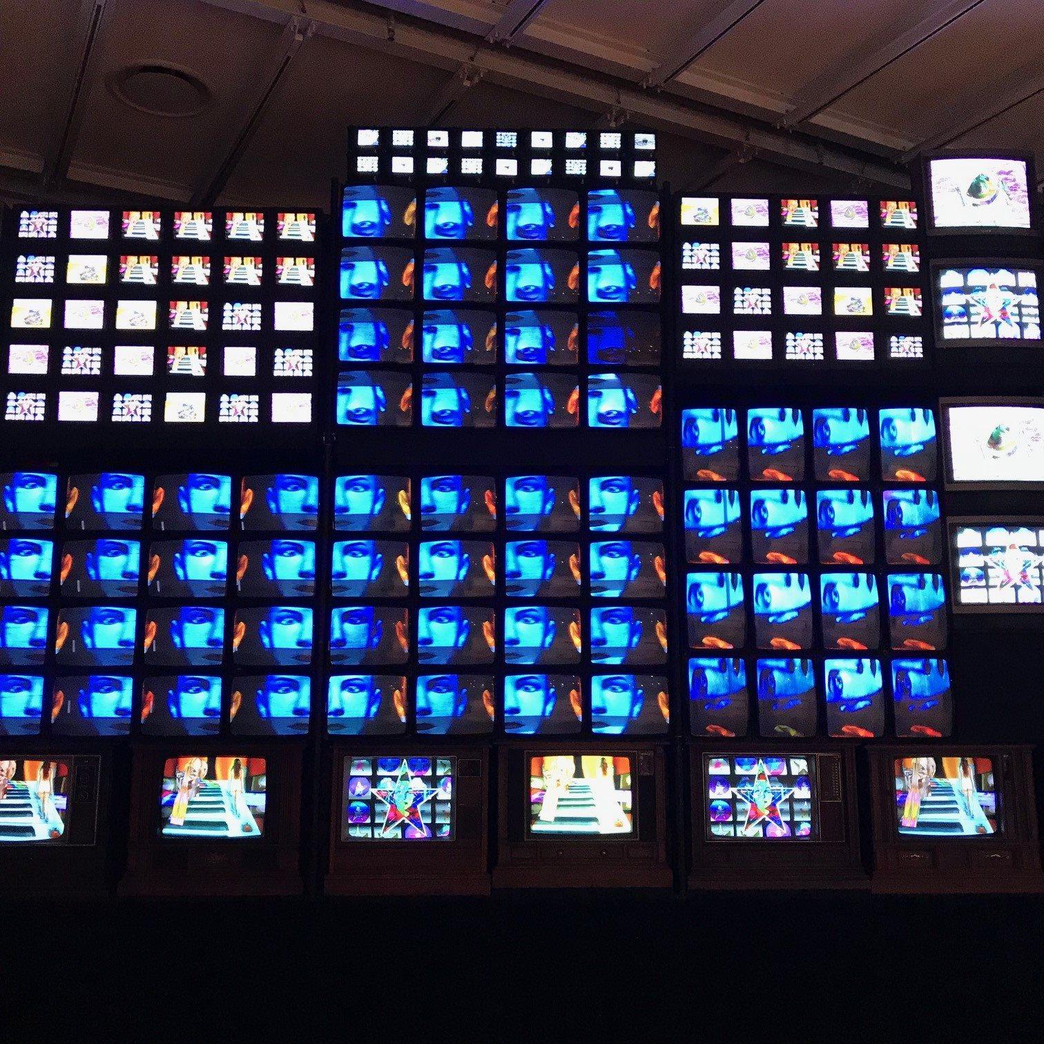 Nam June Paik's Fin de Siècle II at the Whitney Museum of Art, November 2018