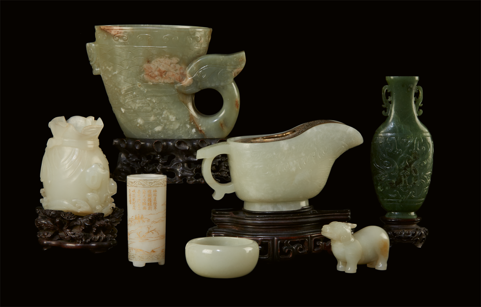 A sampling of Ming and Qing dynasty Chinese Jades from the collection of Dr. Frederic and Mrs. Madeleine Zeman, assembled by the Zemans from the 1930s to the 1960s.