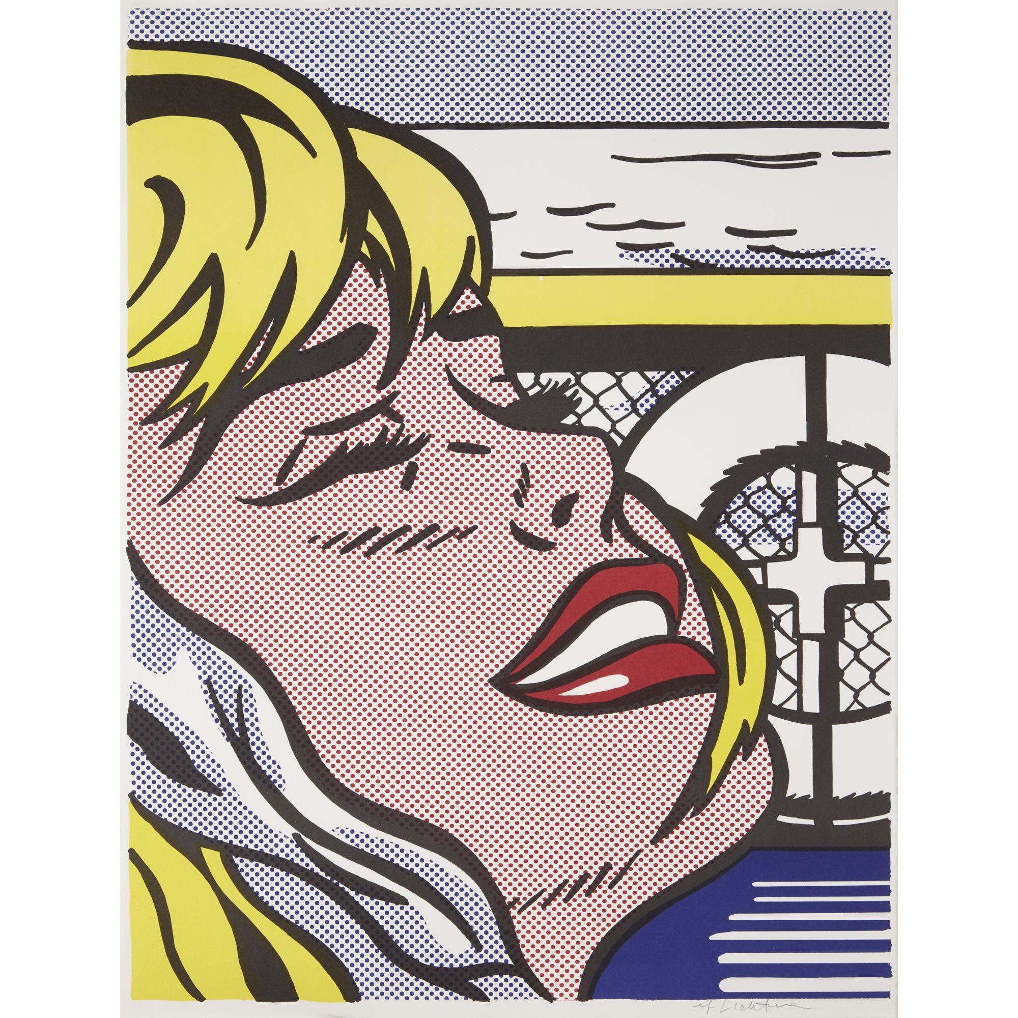 Lot 32 | Roy Lichtenstein (1923-1997), Shipboard Girl, 1965, color lithograph, $30,000-50,000, ©Estate of Roy Lichtenstein