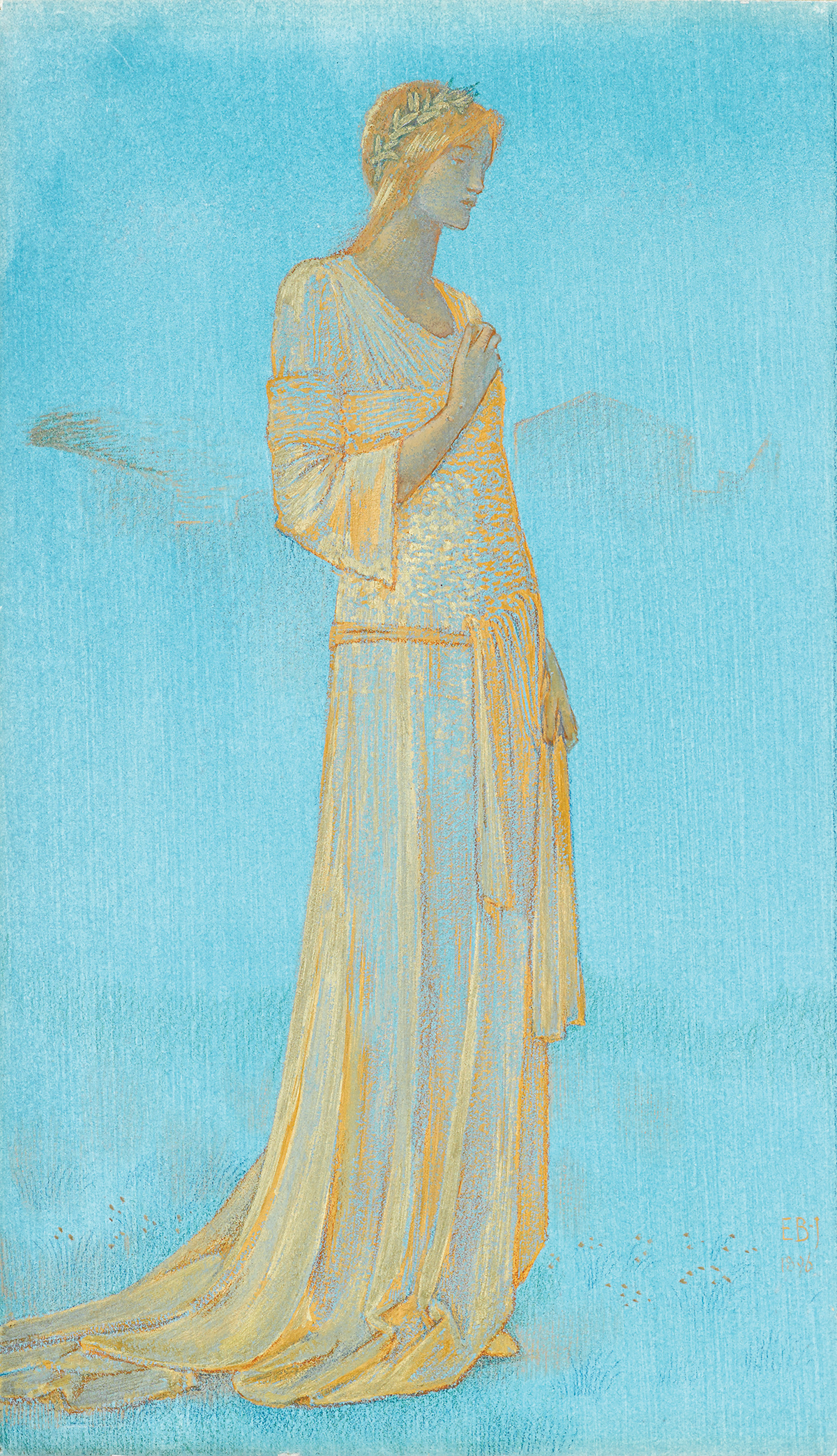 Edward Burne-Jones (British, 1833-1898), Psyche, Gouache and gold chalk on paper, Sold at Freeman's for $194,500
