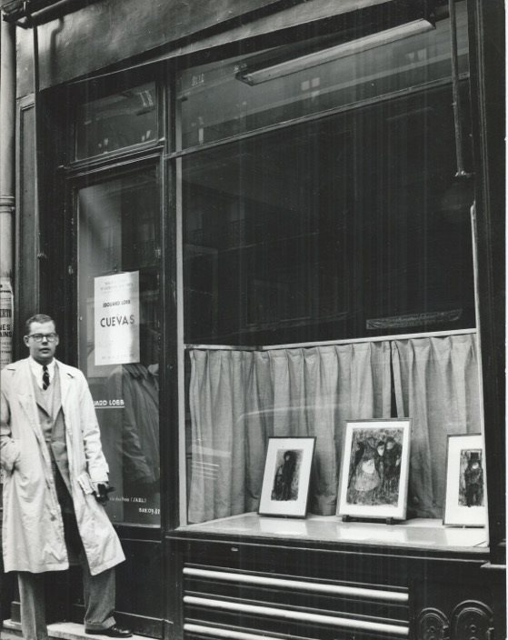Phillip Bruno, 1955, outside the Loeb Gallery, Paris. Image Courtesy of the Hunterian Art Gallery.