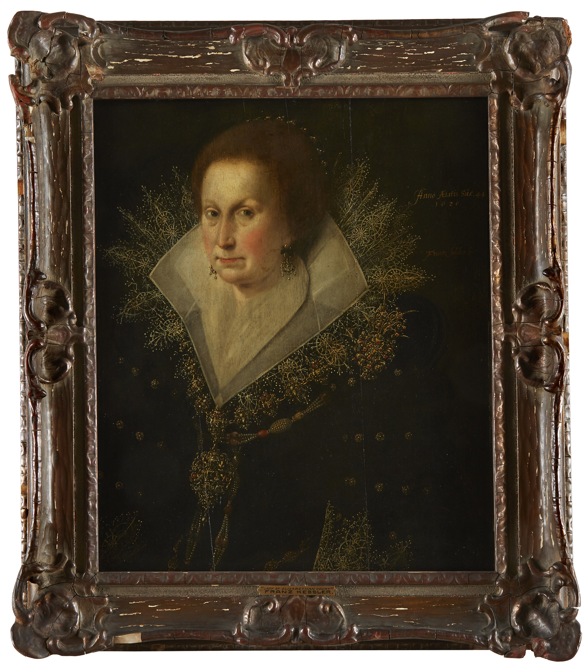Lot 78: Franz Kessler (German 1580-c.1650), Portrait of a Lady, Bust-Length, Oil on Cradled Panel, $7,000-10,000, to be offered at Freeman's on 10 April 2019