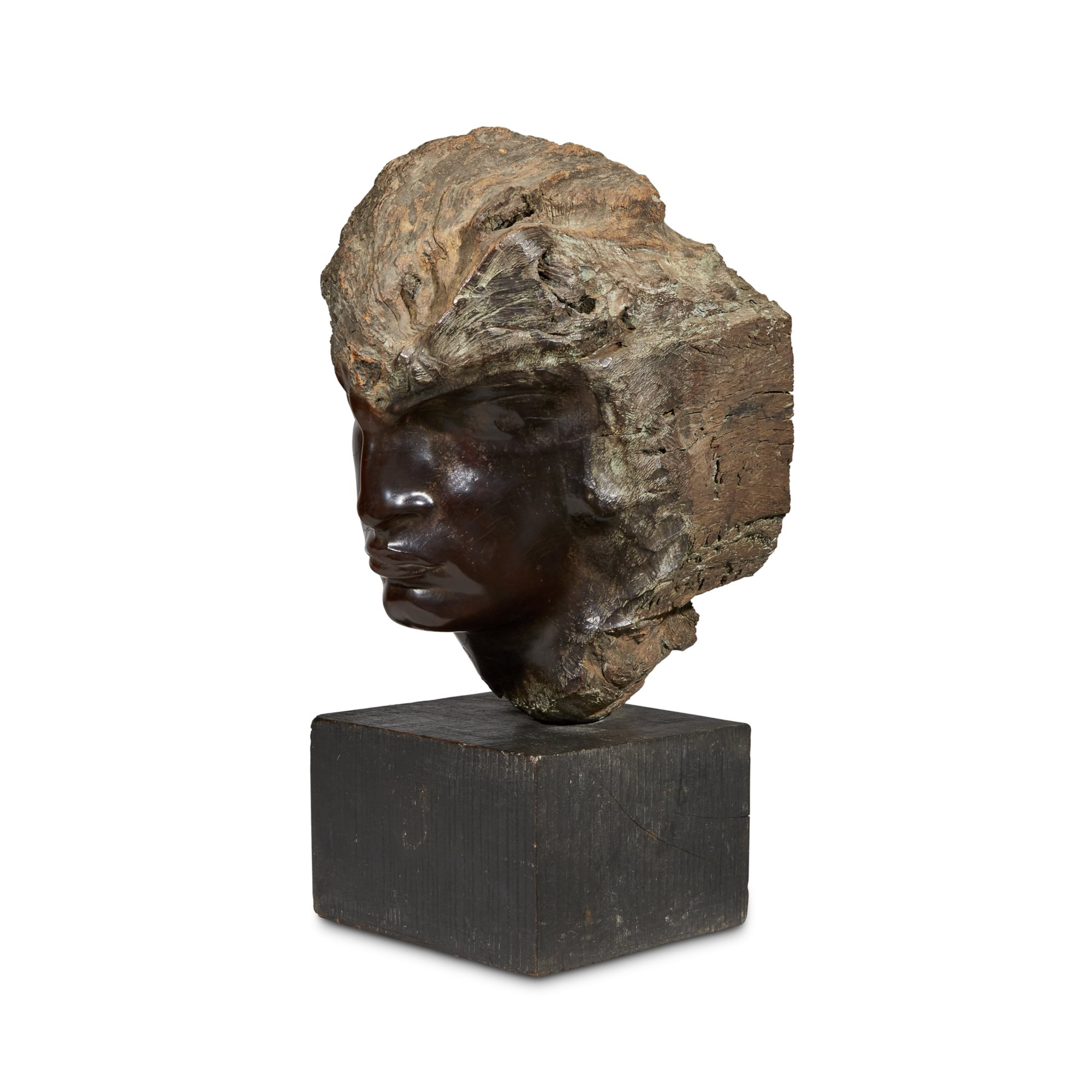 Lot 253: Le Désenchanté  (The Disillusioned), a root wood sculpture by Stephen Erzia (Russian 1876-1960),  sold for $71,500 (estimate: $15,000-25,000)