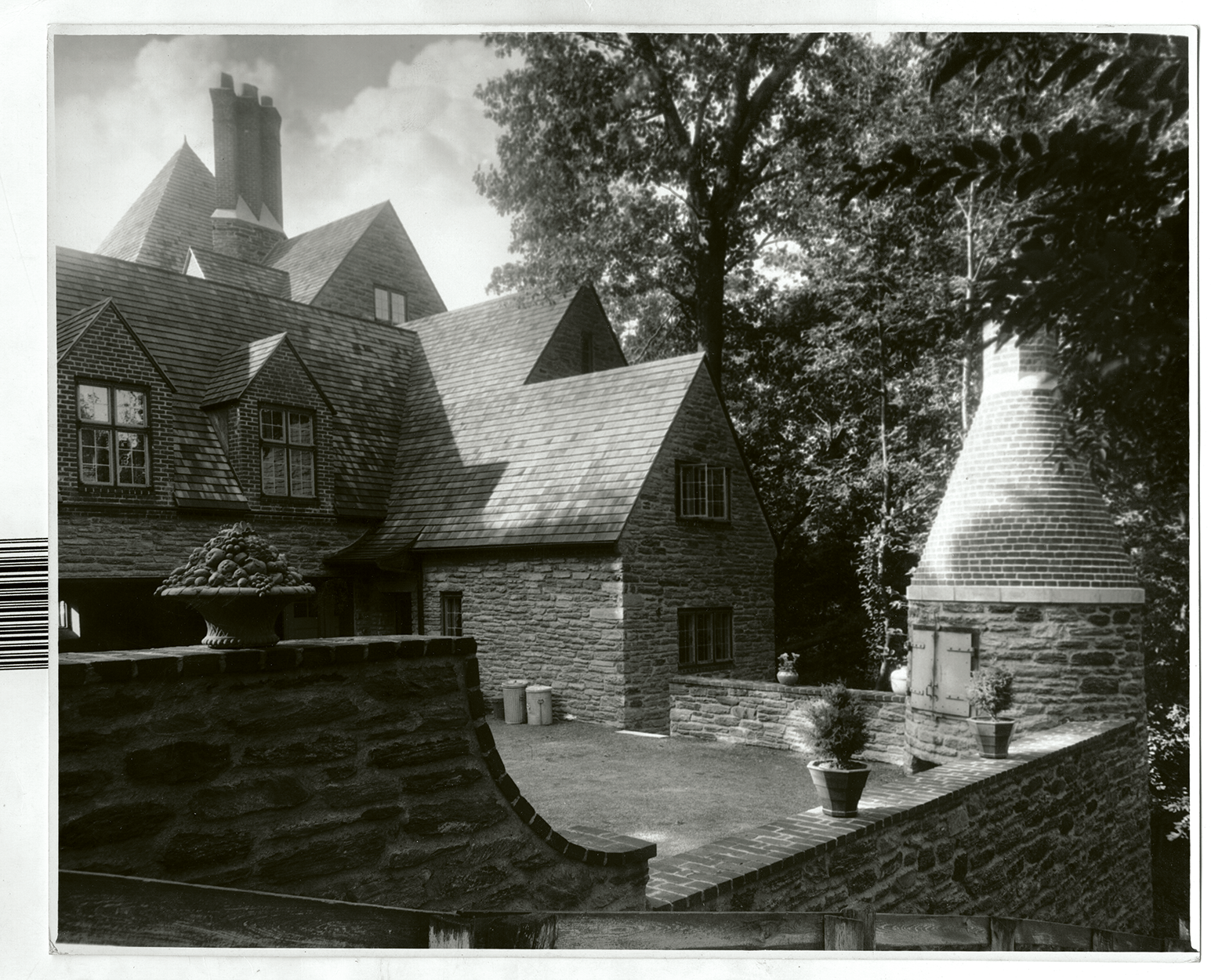 A view of the Abraham T. Malmed Residence, Germantown, PA, Circa 1929, Mellor, Meigs & Howe Collection, Athenaeum of Philadelphia