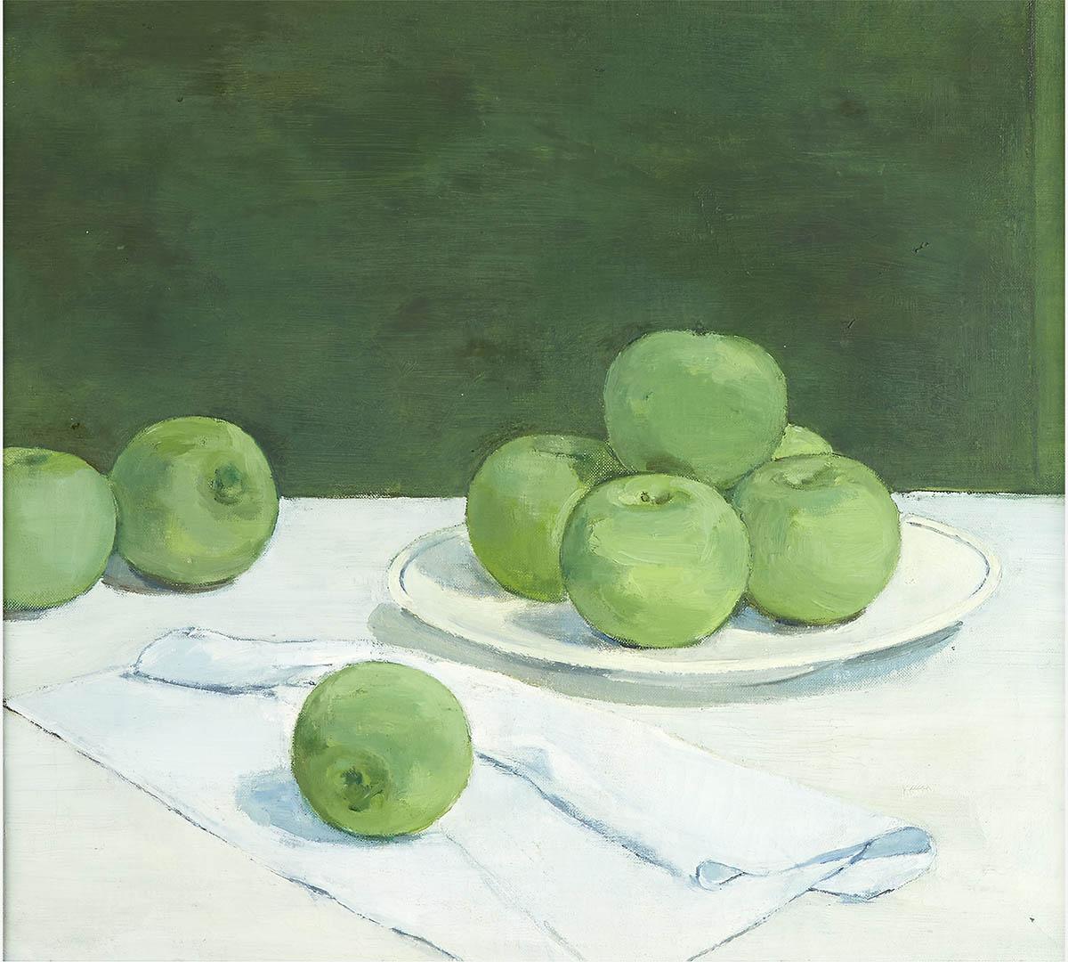 Albert York (American, 1928–2009) Still Life: Green Apples