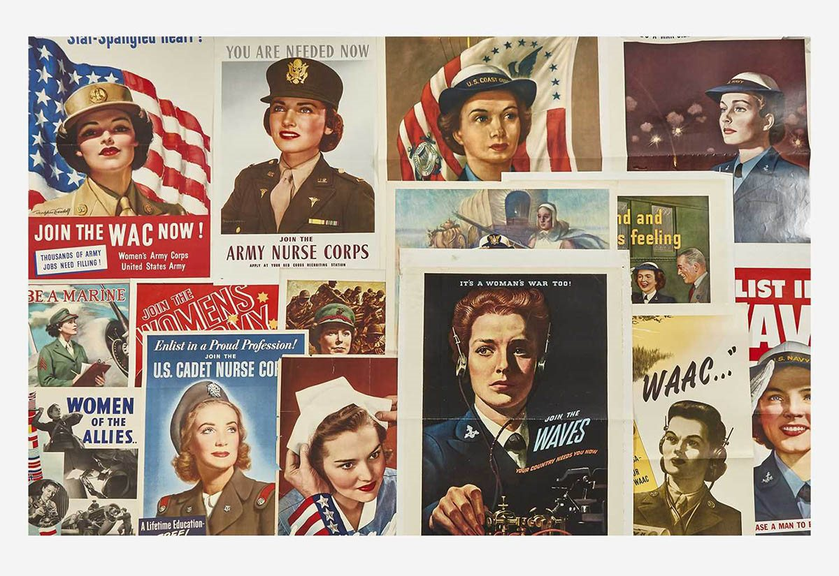 [Posters] [World War II] Group of 16 Women in WWII Posters