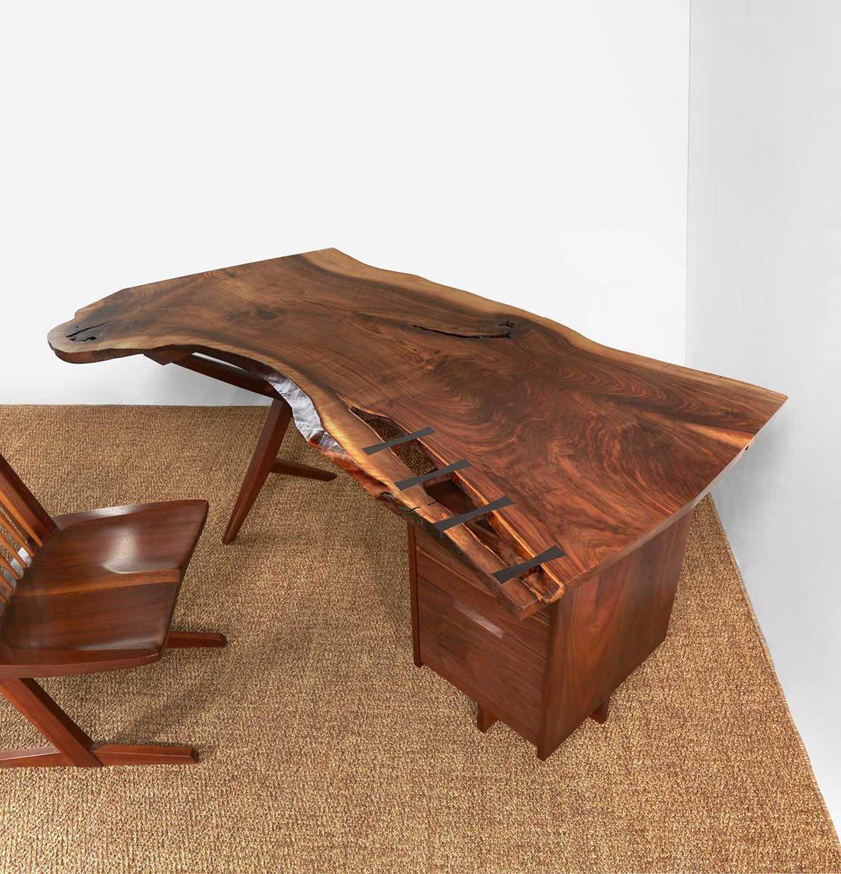 "George Nakashima Exceptional ""Conoid"" Desk, New Hope, Pennsylvania, 1961"