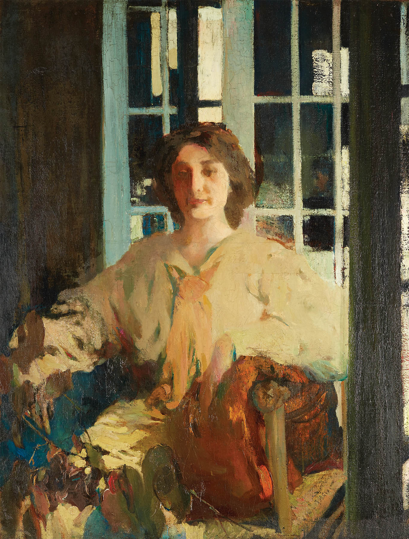 Lot 29 | Arthur Beecher Carles (American 1882-1952), Mlle de C., oil on canvas-SOLD FOR $27,500
