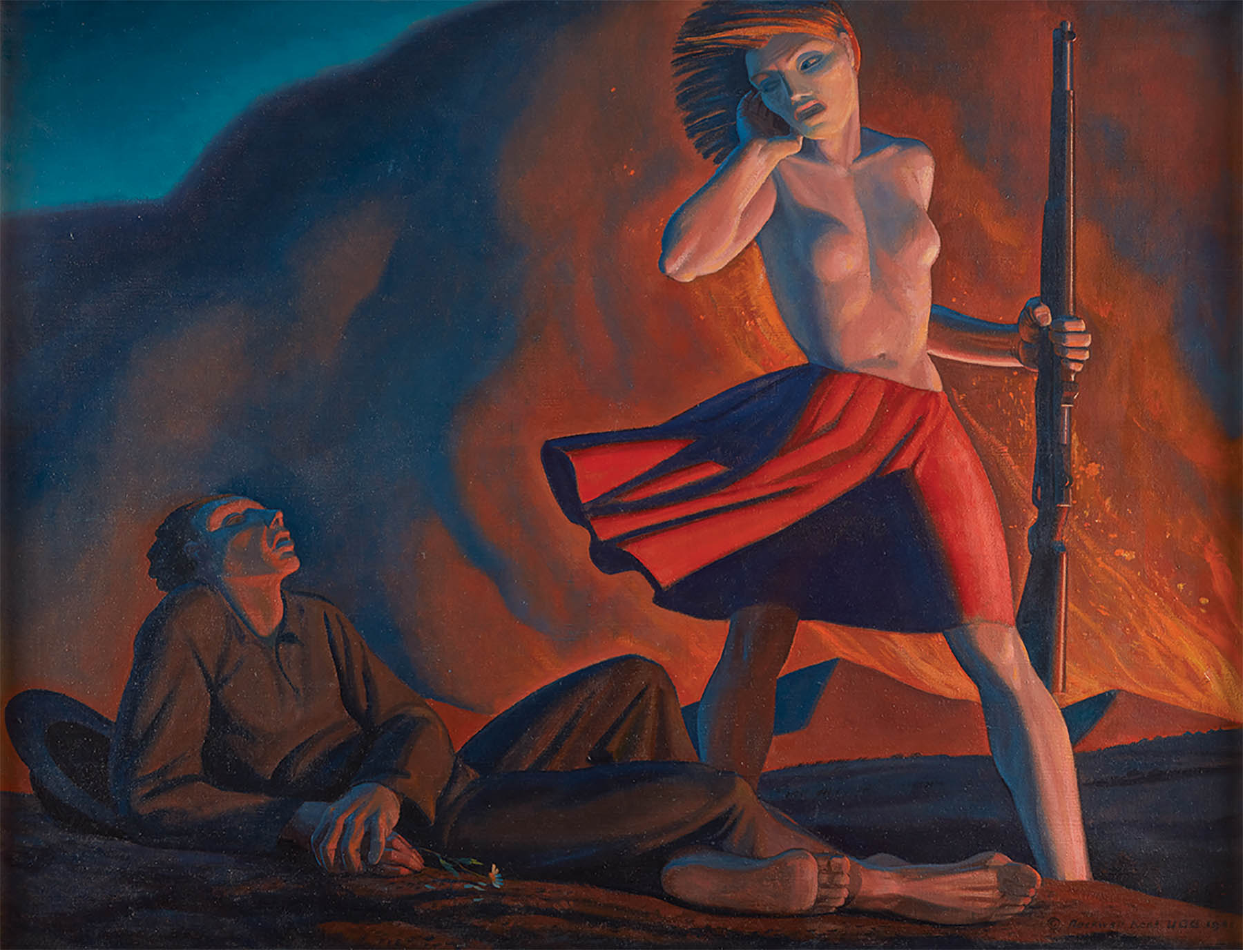 Rockwell Kent painting, Wake Up, America!