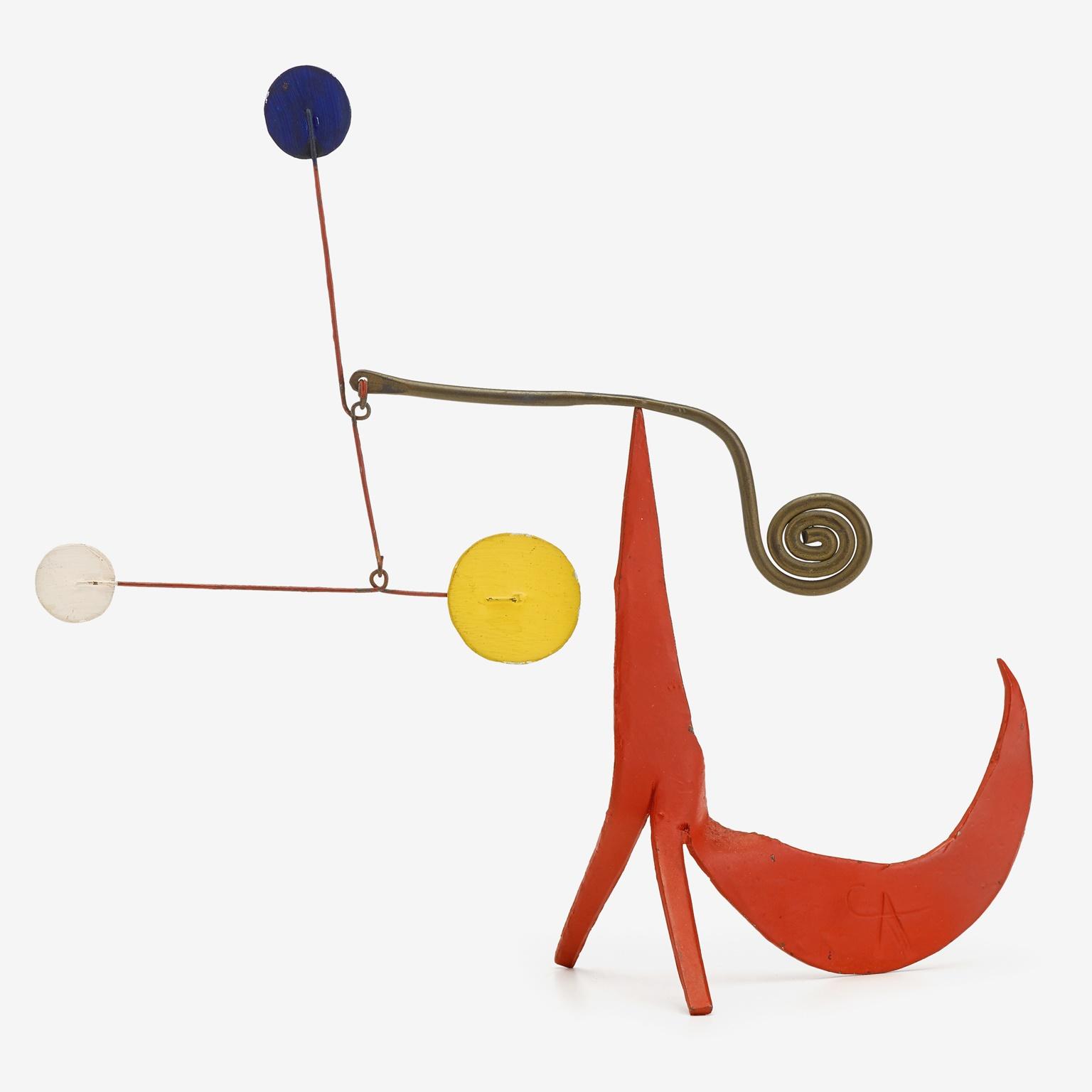 "ALEXANDER CALDER (AMERICAN, 1898-1976) ""BUSHY-TAILED RED"""