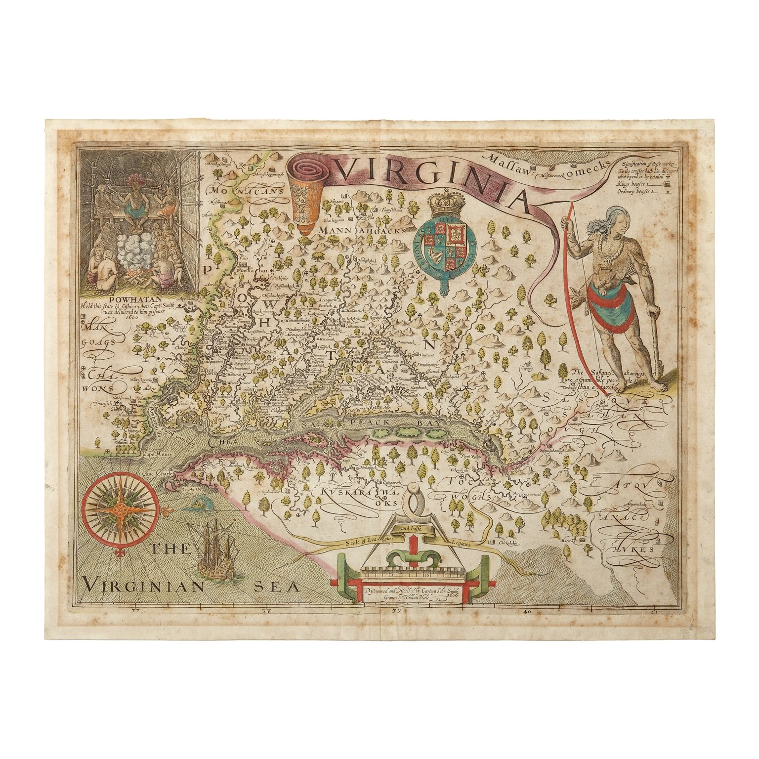 John Smith, Hand-Colored Engraved Map