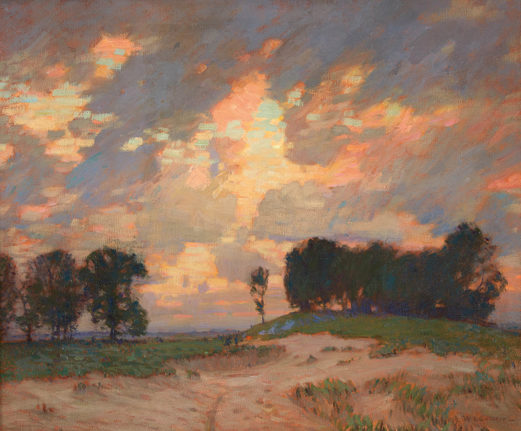 Lot 39 | William Langson Lathrop (American, 1859-1938), The Bonfire, oil on canvas-SOLD FOR $112,500
