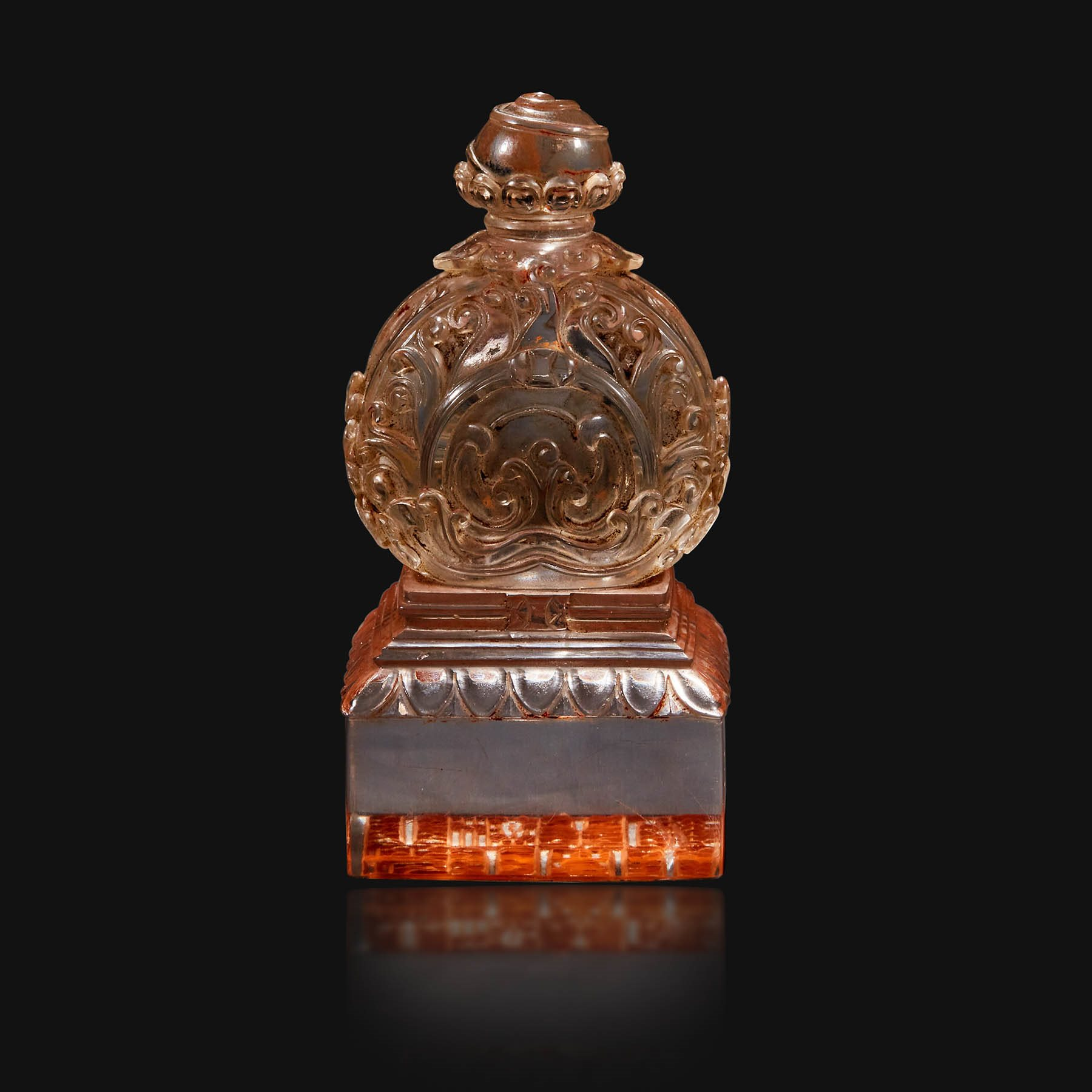 Chinese carved rock crystal seal