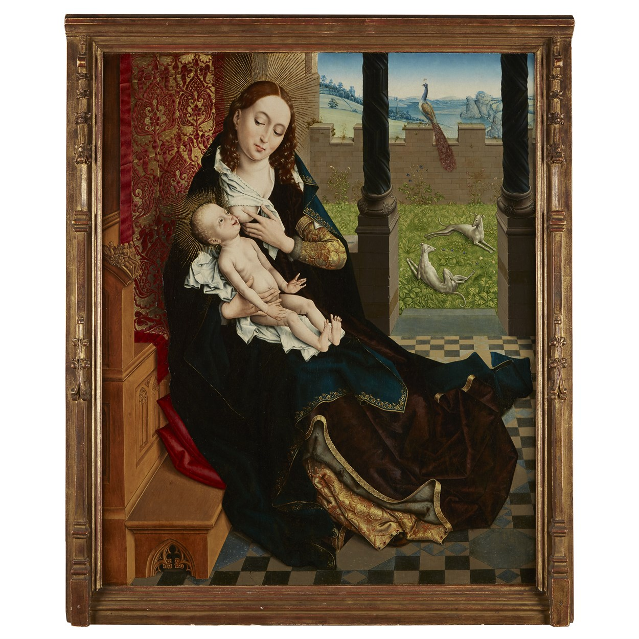 Lot 5 - Master of the Embroidered Foliage (Netherlandish, active Brussels, late 15th Century)
