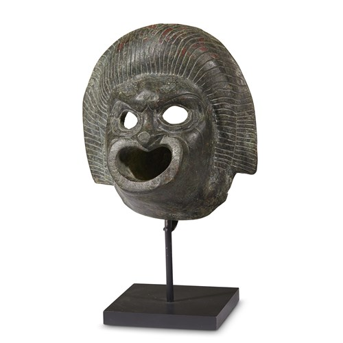 Lot 26 - ROMAN WATER SPOUT IN THE FORM OF A MASK