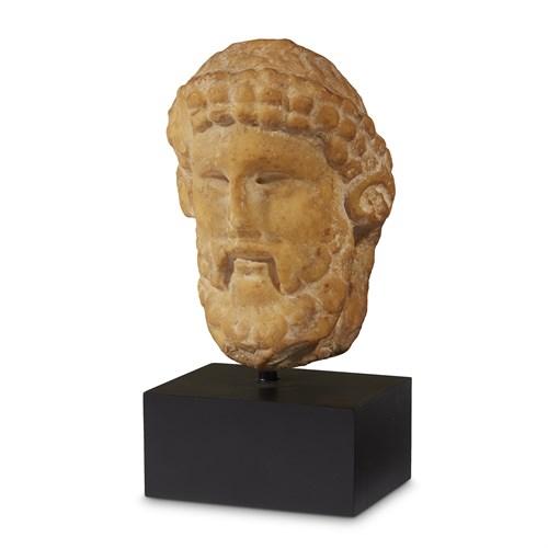 Lot 27 - ROMAN HEAD OF HERMES PROPYLAIOS