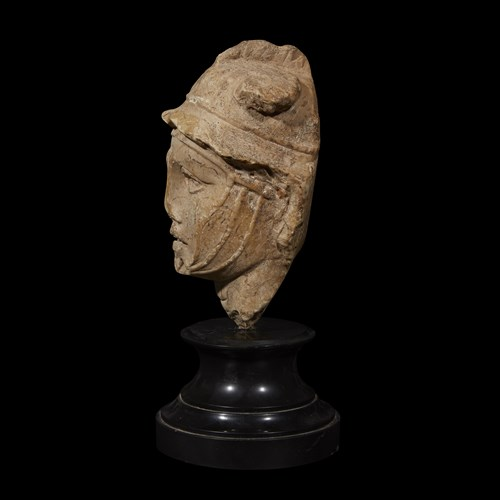Lot 3 - HEAD OF A HELLENISTIC RULER