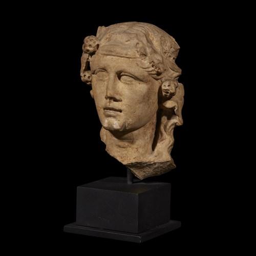 Lot 33 - ROMAN HERM HEAD OF DIONYSOS