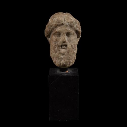 Lot 12 - ROMAN HEAD OF ZEUS