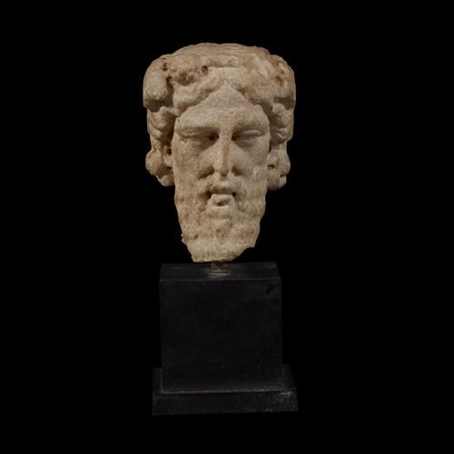 Lot 25 - ROMAN JANIFORM HEAD OF DIONYSOS