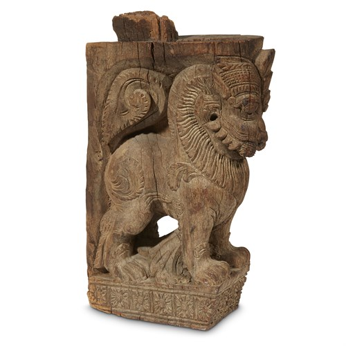 Lot 37 - INDIAN ARCHITECTURAL ELEMENT DEPICTING A YALI