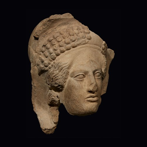 Lot 10 - ETRUSCAN HEAD OF A FEMALE
