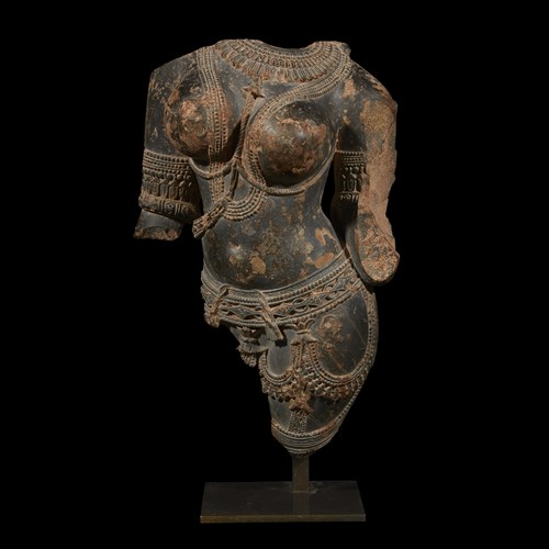 Lot 35 - CENTRAL INDIAN TORSO OF A CELESTIAL BEING