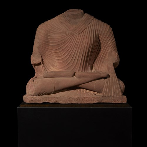 Lot 39 - OVER LIFE-SIZED SCULPTURE OF BUDDHA
