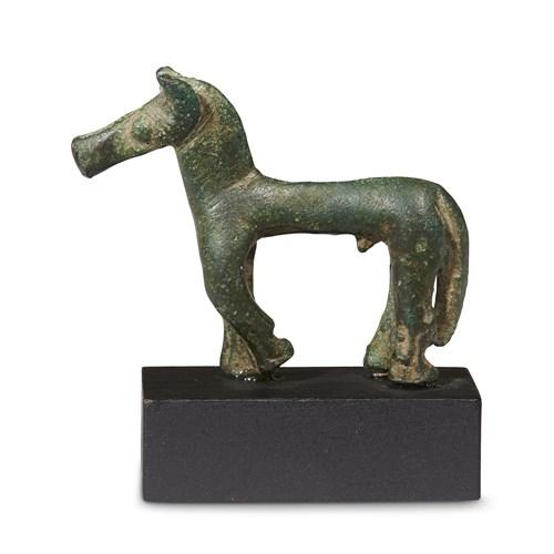Lot 8 - GREEK GEOMETRIC VOTIVE HORSE FROM THE GIAMALAKIS GROUP