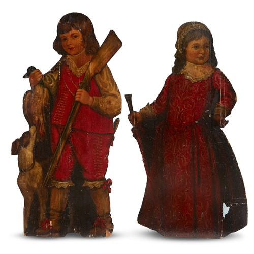 Lot 37 - TWO GEORGIAN DUMMY BOARDS