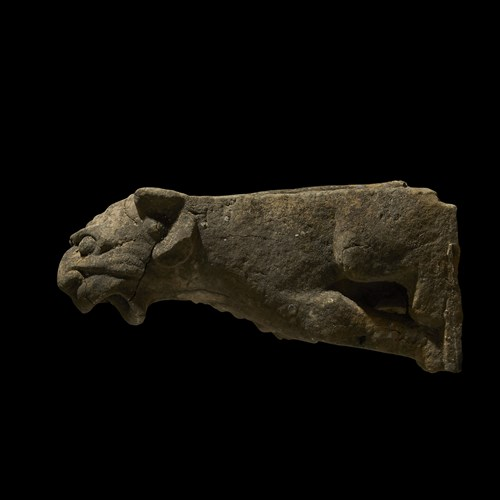 Lot 85 - A LATE GOTHIC LIMESTONE GARGOYLE WATER SPOUT