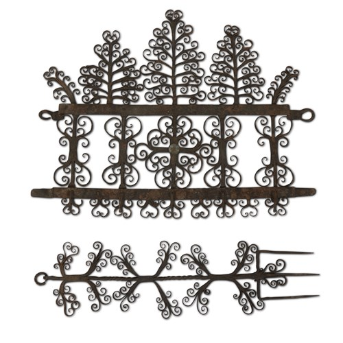 Lot 95 - TWO CONTINENTAL WROUGHT IRON KITCHEN ELEMENTS