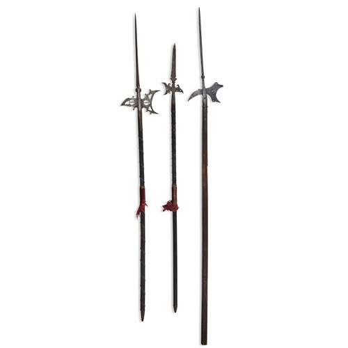Lot 9 - THREE STEEL HALBERDS