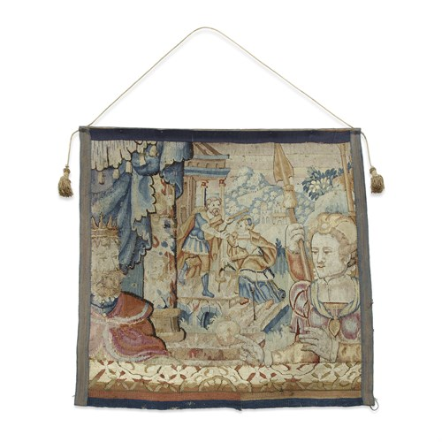 Lot 64 - A GERMAN TAPESTRY FRAGMENT