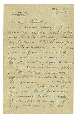 Lot 19 - Cecilia Beaux (American, 1855-1942)