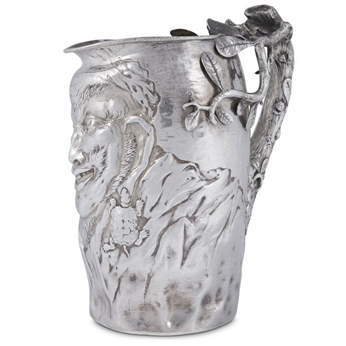 Lot 8 - Sterling silver figural water pitcher