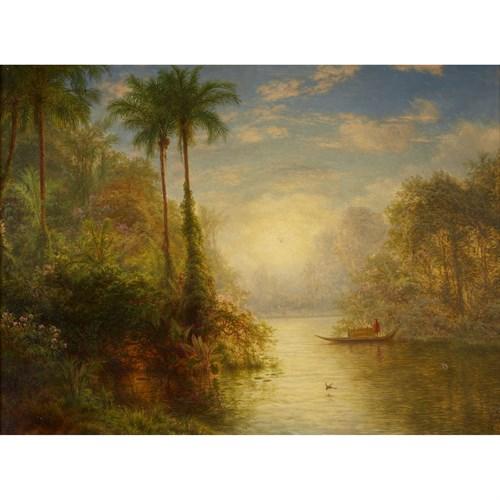 Lot 25 - Louis Rémy Mignot (American, 1831-1870)