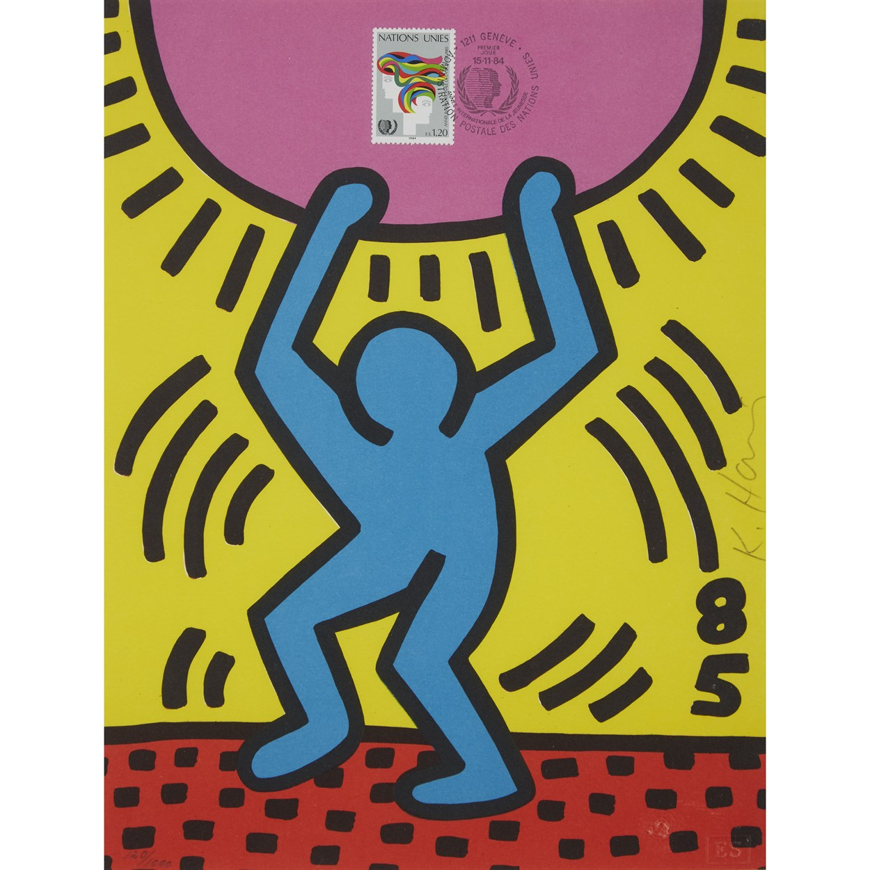Lot 72 - Two PrintsKeith Haring (American, 1958-1990)